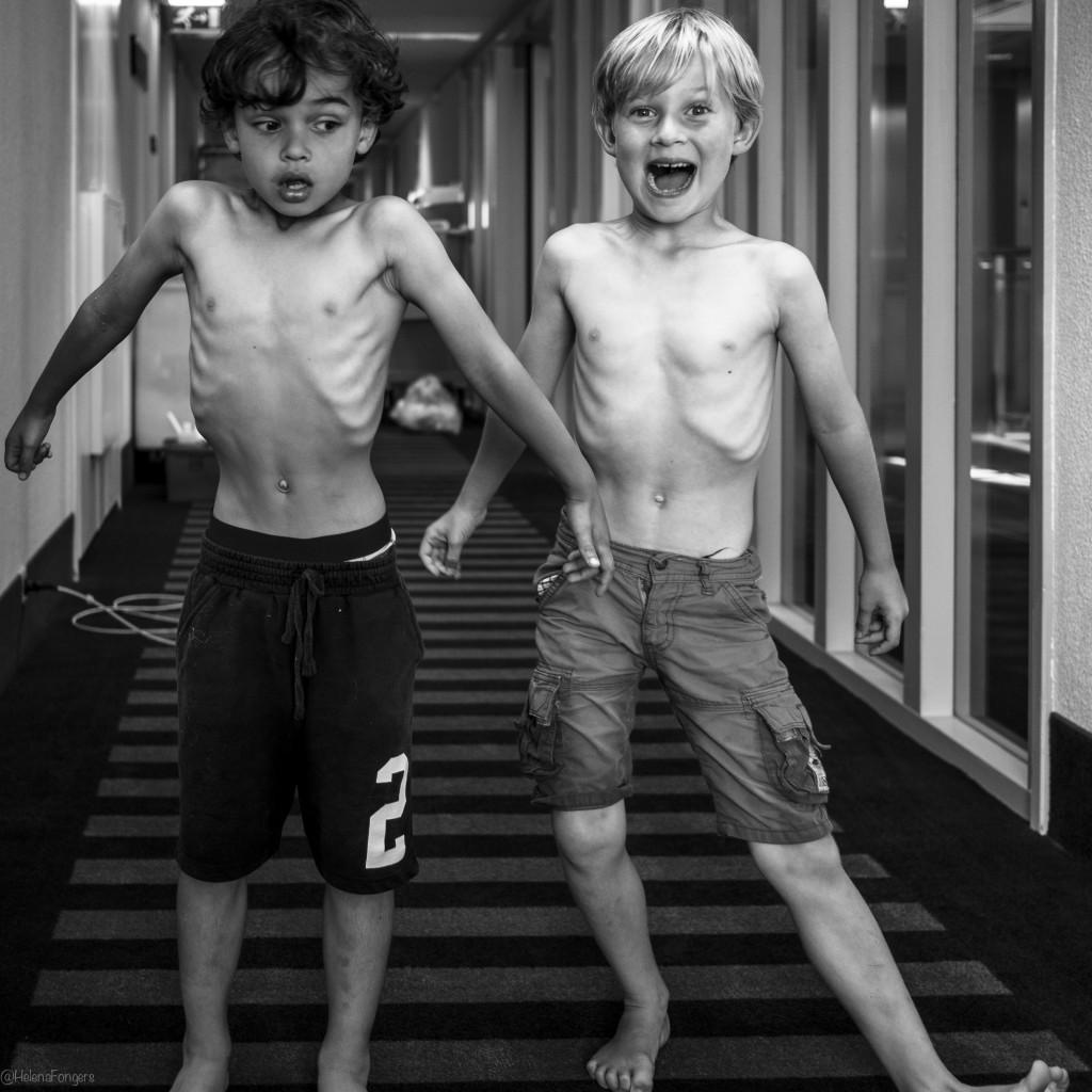 Quinten en Lucas ribbetjes wedstrijd in gang2